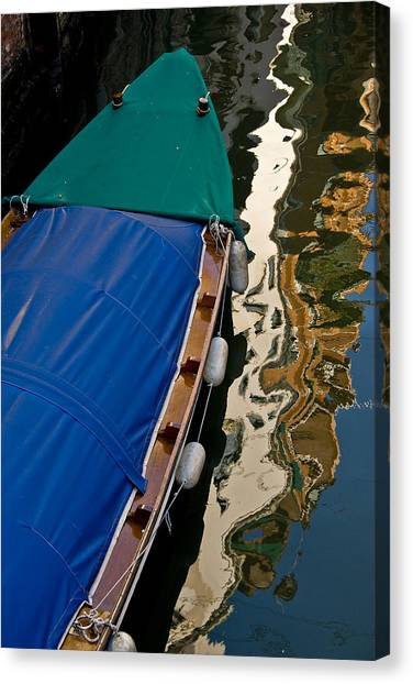 Gondola Reflection Canvas Print