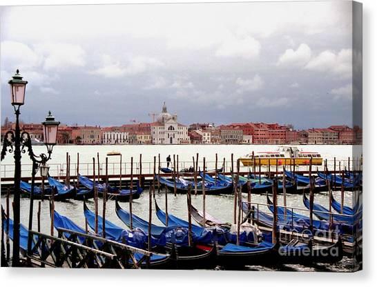 Gondolas In Venice Canvas Print by Michael Henderson