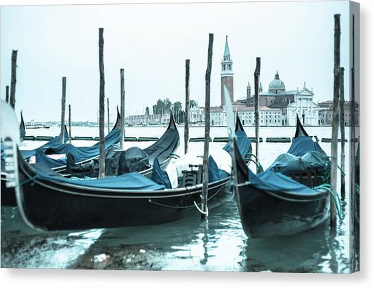 Gondolas On The Venice Lagoon Canvas Print