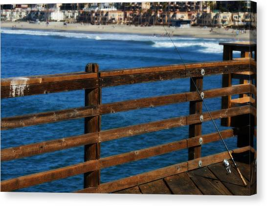 Gone Fishing In Color Canvas Print
