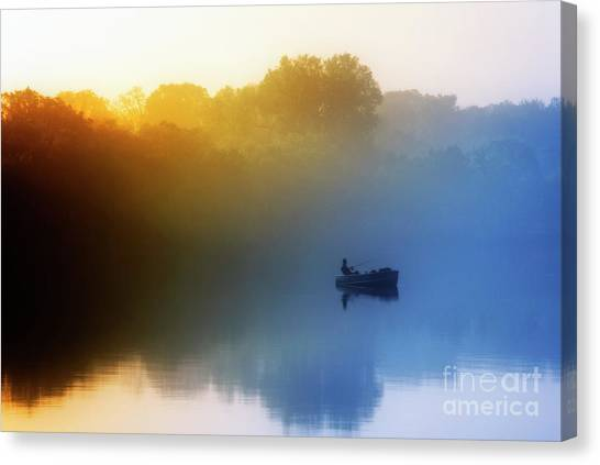 Canvas Print featuring the photograph Gone Fishing by Scott Kemper