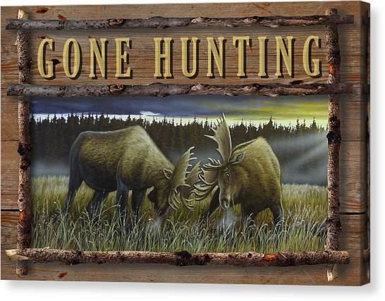 Gone Hunting - Locked At Lac Seul Canvas Print