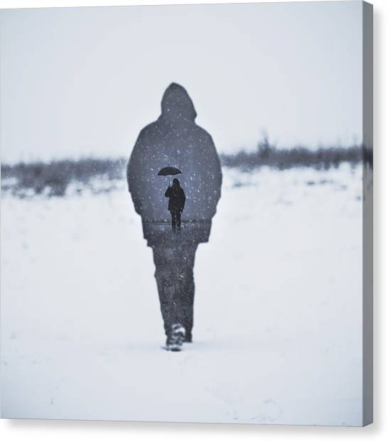 Snow Canvas Print - Gone by Art of Invi