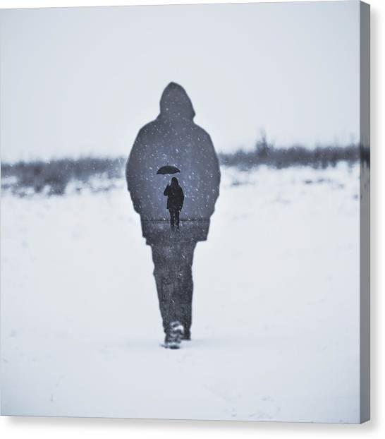 Snow Landscape Canvas Print - Gone by Art of Invi