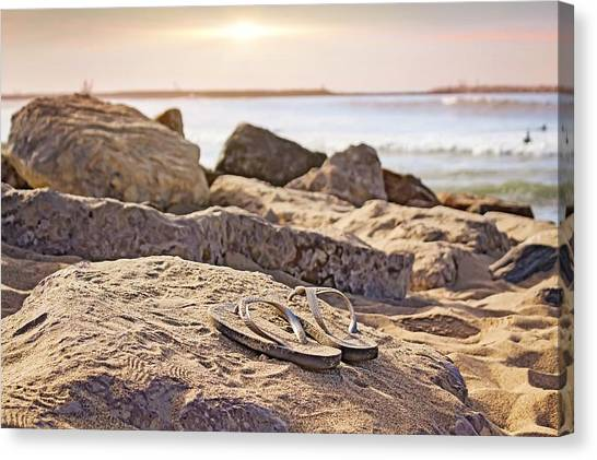Canvas Print featuring the photograph Gone Surfin' by Alison Frank