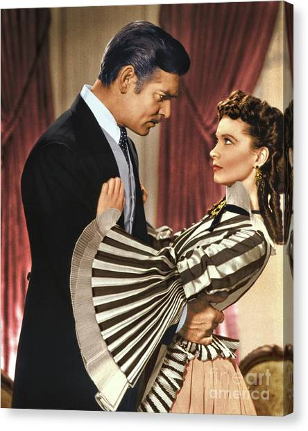 Gone With The Wind - 1939 - Completely Retouched In Color Canvas Print