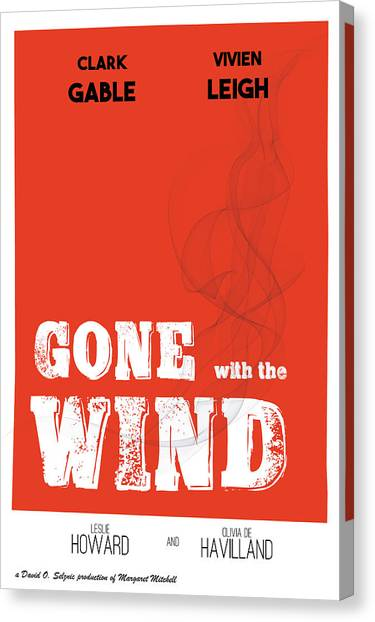 Gone With The Wind Canvas Print - Gone With The Wind Alternative Classic Movie by Raluca Mateescu