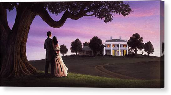 Plantation Canvas Print - Gone With The Wind by Jerry LoFaro