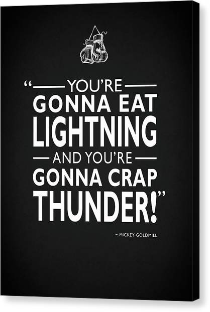 Sylvester Stallone Canvas Print - Gonna Eat Lightning by Mark Rogan
