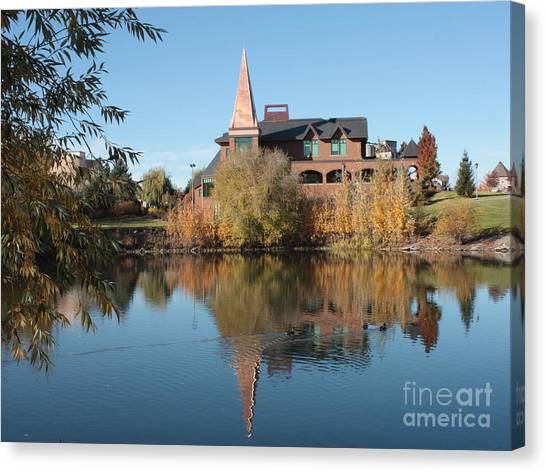 Washington State University Canvas Print - Gonzaga Art Building by Carol Groenen