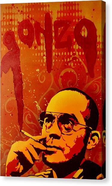 Cigarette Canvas Print - Gonzo - Hunter S. Thompson by Tai Taeoalii