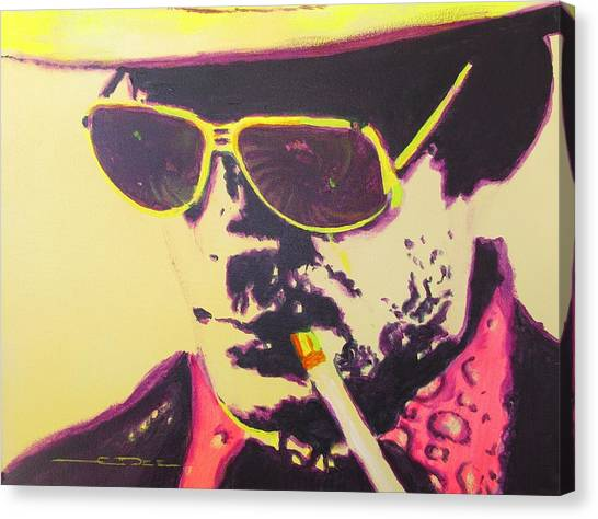 Rum Canvas Print - Gonzo - Hunter S. Thompson by Eric Dee