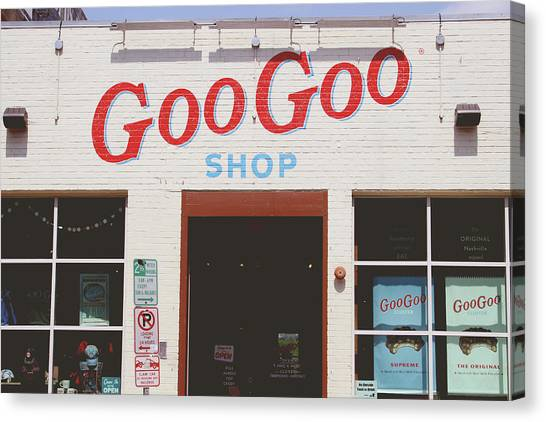 Retro Styled Canvas Print - Goo Goo Shop- Photography By Linda Woods by Linda Woods