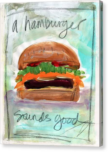 Diners Canvas Print - Good Burger by Linda Woods