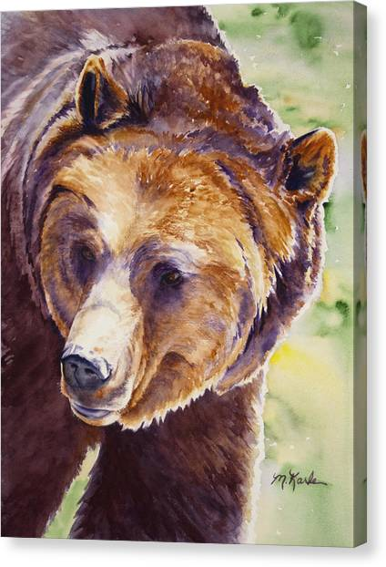 Good Day Sunshine - Grizzly Bear Canvas Print