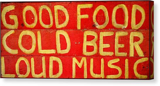 Good Food Canvas Print