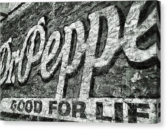 Dr. Pepper Canvas Print - Good For Life by Pair of Spades