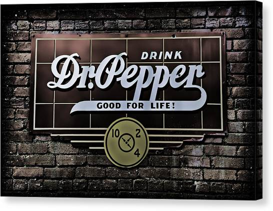 Dr. Pepper Canvas Print - Good For Life by Stephen Stookey