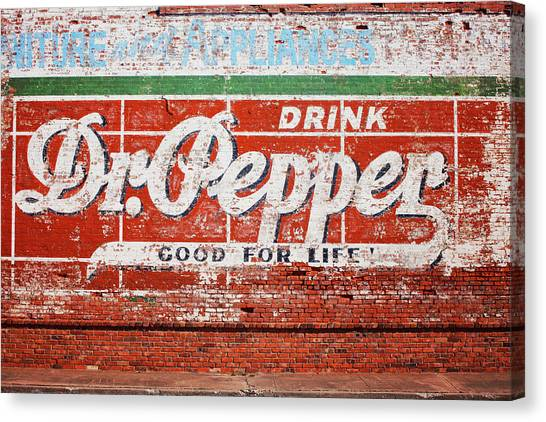 Dr. Pepper Canvas Print - Good For Life  by Toni Hopper