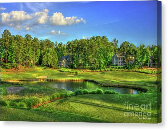 Jack Nicklaus Canvas Print - Good Golf The Landing Reynolds Plantation Golf Art by Reid Callaway