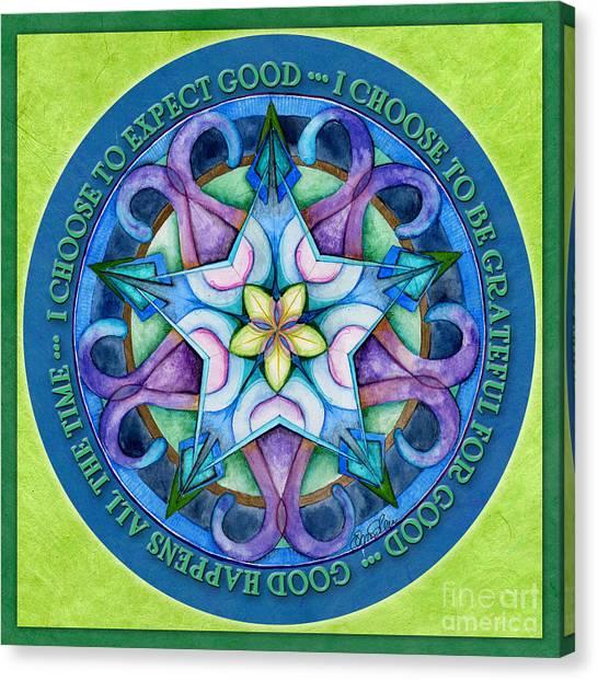 Good Happens Mandala Prayer Canvas Print