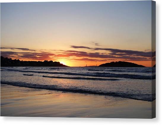 Good Harbor Beach At Sunrise Gloucester Ma Canvas Print