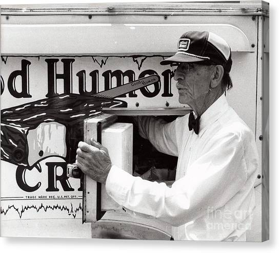 Good Humor Man Canvas Print by Diane E Berry