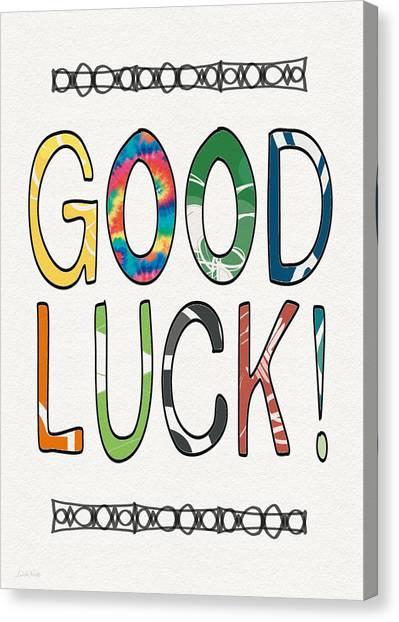 Graduation Canvas Print - Good Luck Card- Art By Linda Woods by Linda Woods