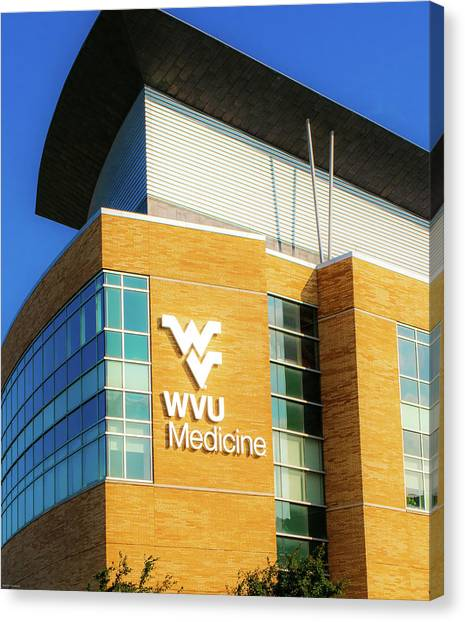 West Virginia University Wvu Canvas Print - Good Medicine by Aaron Geraud