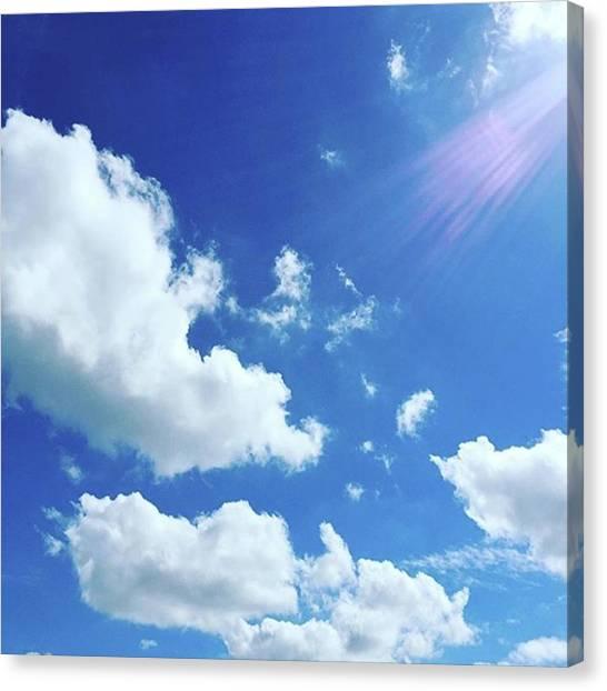 Japanese Canvas Print - Good Morning 😉  Blue Sky !! by Mutsuko Shibui