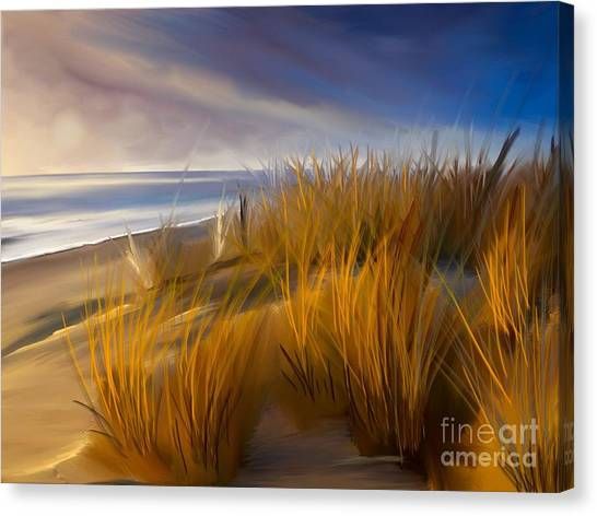 Good Morning Beach Day Canvas Print
