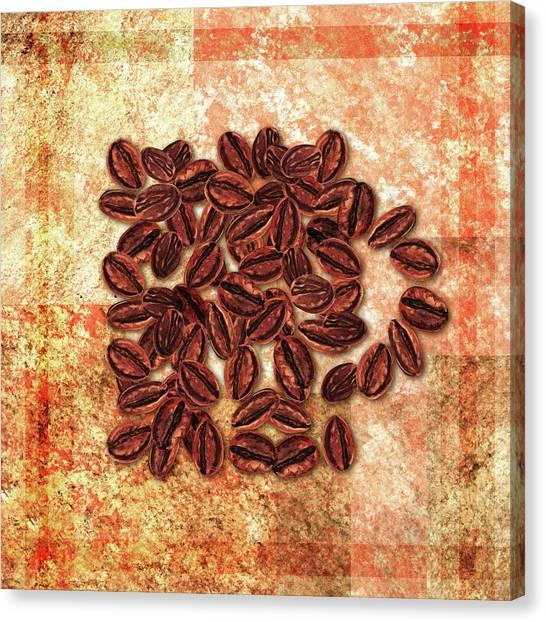 Coffee Beans Canvas Print - Good Morning Coffee Mug by Irina Sztukowski