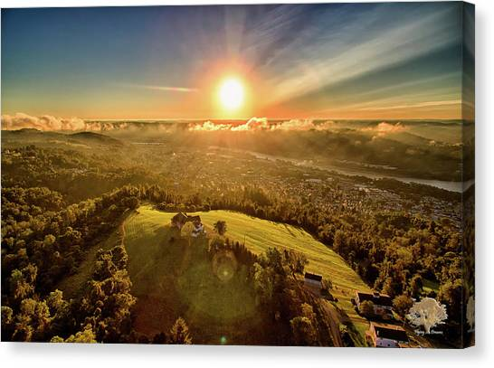 Ohio Valley Canvas Print - Good Morning Martins Ferry by Flying Dreams