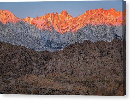 Good Morning Mount Whitney Canvas Print