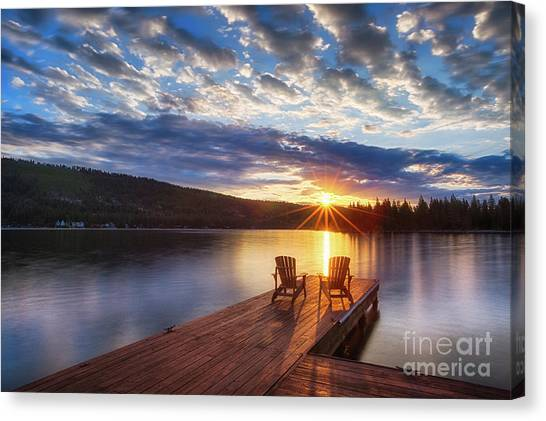 Good Morning Sun Canvas Print
