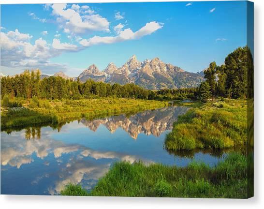 Teton National Park Canvas Print - Good Morning Tetons by Robert Bynum