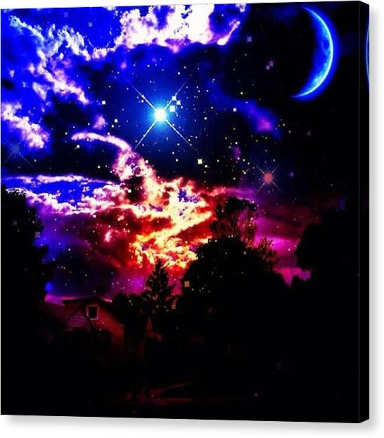 Starry Night Canvas Print - Good Morning World by Nick Heap