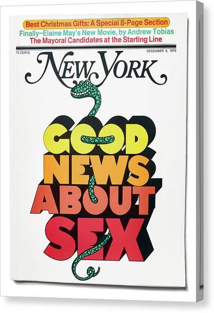 Good News About Sex Canvas Print