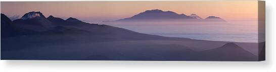 Volcanoes Canvas Print - Good Night, Iturup by Alexey Kharitonov