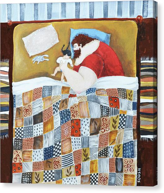 Dad Canvas Print - Good Night by Soosh