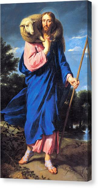 Praise The Lord Canvas Print - Good Shepherd by Philippe de Champaigne