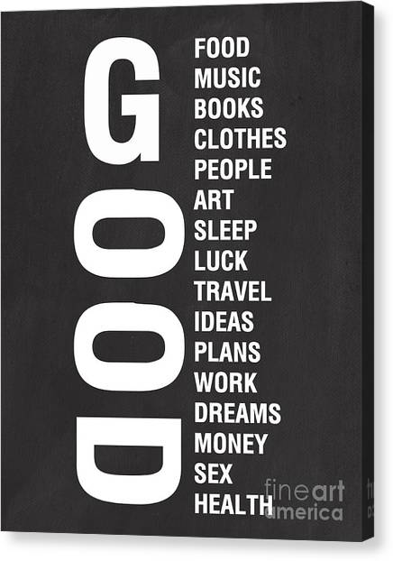 Clothes Canvas Print - Good Things by Linda Woods