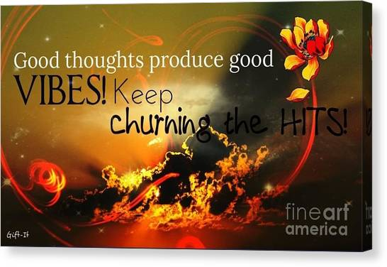 Good Thoughts Canvas Print
