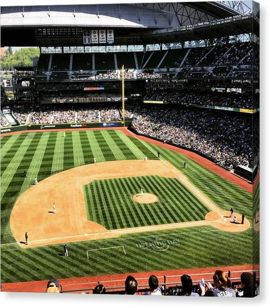 Seattle Mariners Canvas Print - Good To Be Back At The Safe! #mariners by Myk Crawford
