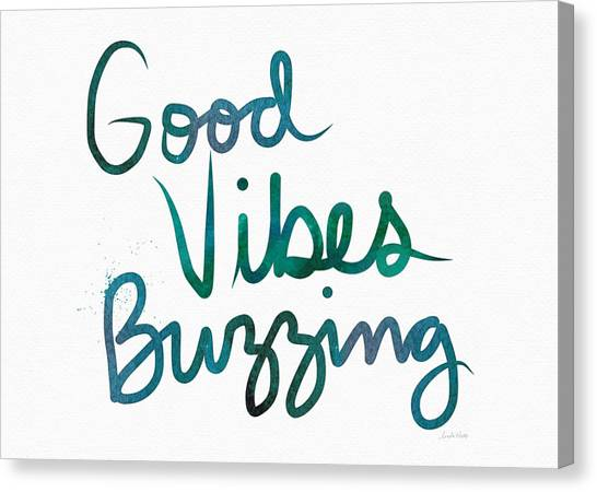 Sympathy Canvas Print - Good Vibes Buzzing- Art By Linda Woods by Linda Woods