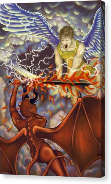 Good Vs Evil Canvas Print by Tom Wrenn