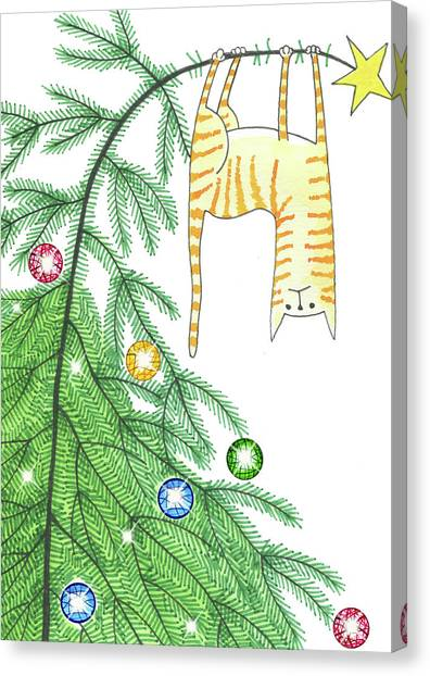 Climbing Canvas Print - Goodbye, Christmas Tree  by Andrew Hitchen