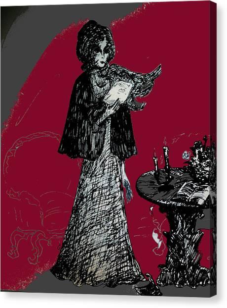 Goodbye Letter Canvas Print by Rae Chichilnitsky