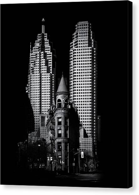 Gooderham Flatiron Building And Toronto Downtown No 2 Canvas Print