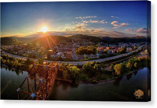 Ohio Valley Canvas Print - Goodnight Bellaire by Flying Dreams